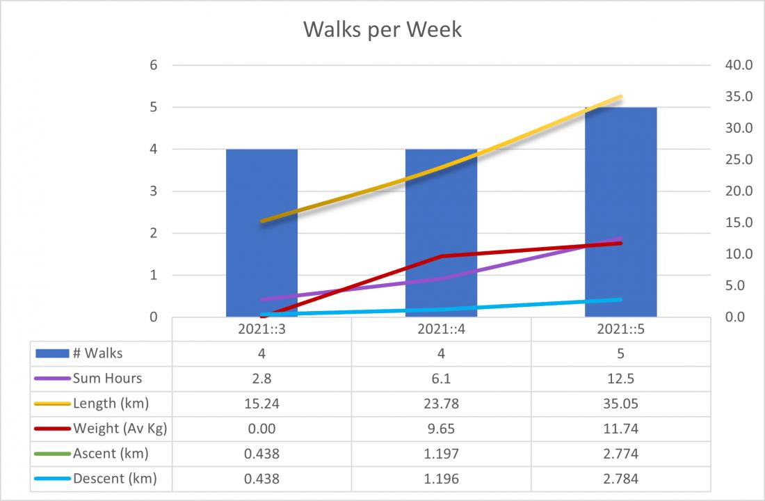 Training Walks :: January Summary